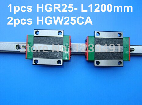1pcs original hiwin linear rail HGR25- L1200mm with 2pcs HGW25CA flange block cnc parts free shipping to argentina 2 pcs hgr25 3000mm and hgw25c 4pcs hiwin from taiwan linear guide rail