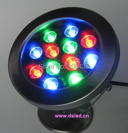 IP68,stainless steel,12W RGB LED pool light, RGB underwater LED light,good quality,12X1W,12V DC,DS-10-12-12W,DMX compitable