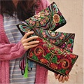 Color by Random Lady Fashion Embroidery Design Women Clutch Bag Fashion Ethnic Envelope Bags Girl Bags Casual Bag H119