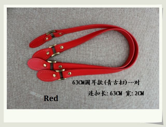 f9e6c4879d Wholesale 10pcs 5pairs lot double sides PU leather handbag handle ...