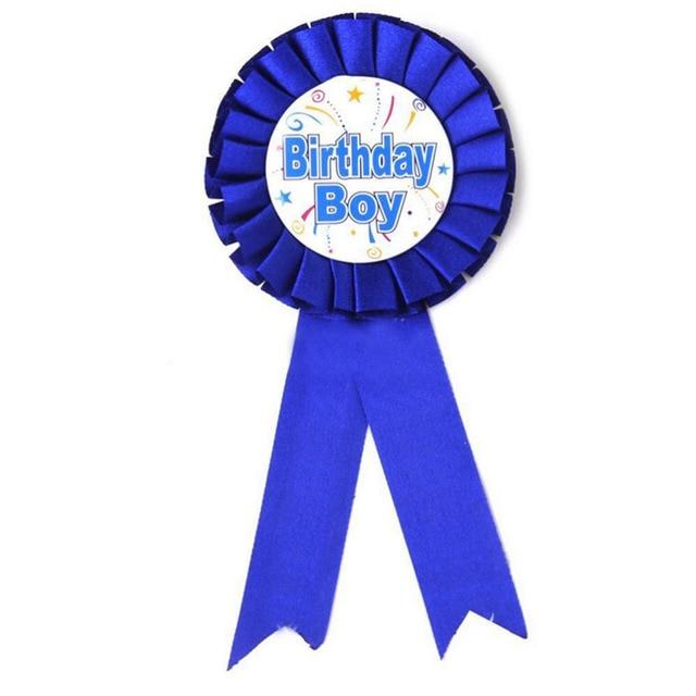 Blue Red Boy Girls Birthday Badge Baby Shower Favor Pin On