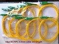 10 шт. SC/APC-2.0mm-PVC-SM (G652D)-Yellow-2m Оптического Волокна Косичку