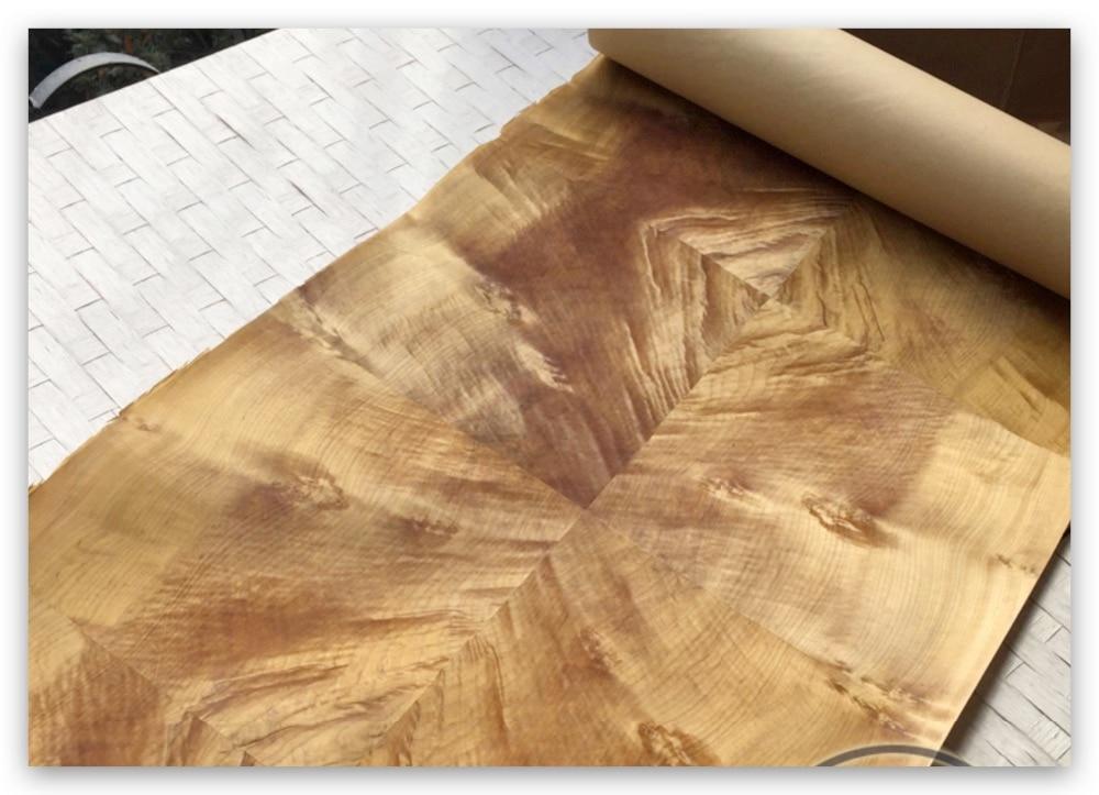 L:2.5Meters  Width:60cm Thickness:0.25-0.3mm Wood Splicing Gold Phoebe Woood Veneer Diy Home  Decorative Veneer