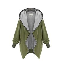 Fashion Casual Hooded Large Size Women Autumn Increase The Fat Sister Was Thin Jackets Women outerwear coats