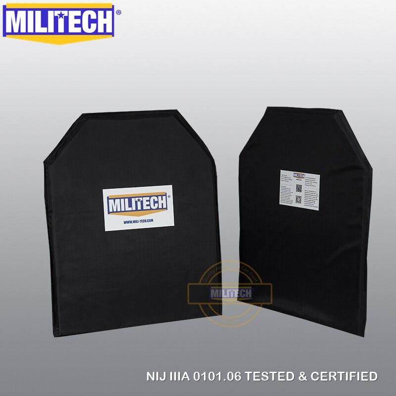 MILITECH Aramid Ballistic NIJ Level IIIA 3A 11x14 STC & 5x8 Two Pairs Panels Bullet Proof Plate Inserts Body Armor Soft Armour