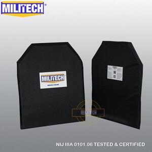 Image 1 - العسكرية NIJ المستوى IIIA 3A 11x14 STC و 5x8 اثنين من أزواج الأراميد الباليستية لوحات رصاصة واقية لوحة إدراج درع للجسم درع لينة