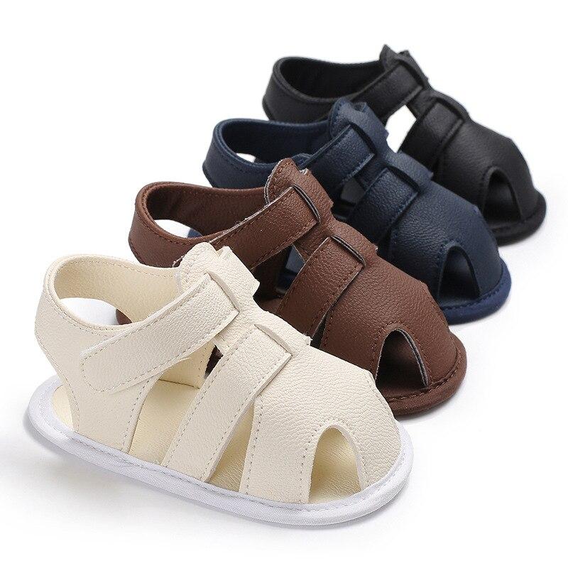 Ideacherry קיץ תינוק נעלי יילוד בני עור מפוצל ראשון הליכונים תינוקות נעלי עבור 0-18 m פעוט תינוקות רך לנשימה נעליים