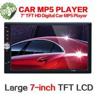 2 Din Car Multimedia Player 7 HD Bluetooth Auto Stereo Radio FM MP5 Audio Video USB