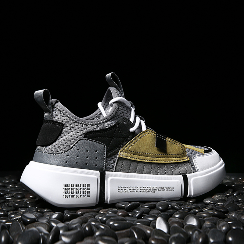 INS Super Hot Skateboard Shoes For Men Sneakers Hombre Mesh Breathable Sport Skateboarding Shoe Walking 2 ACE Cool  Gray Shoes