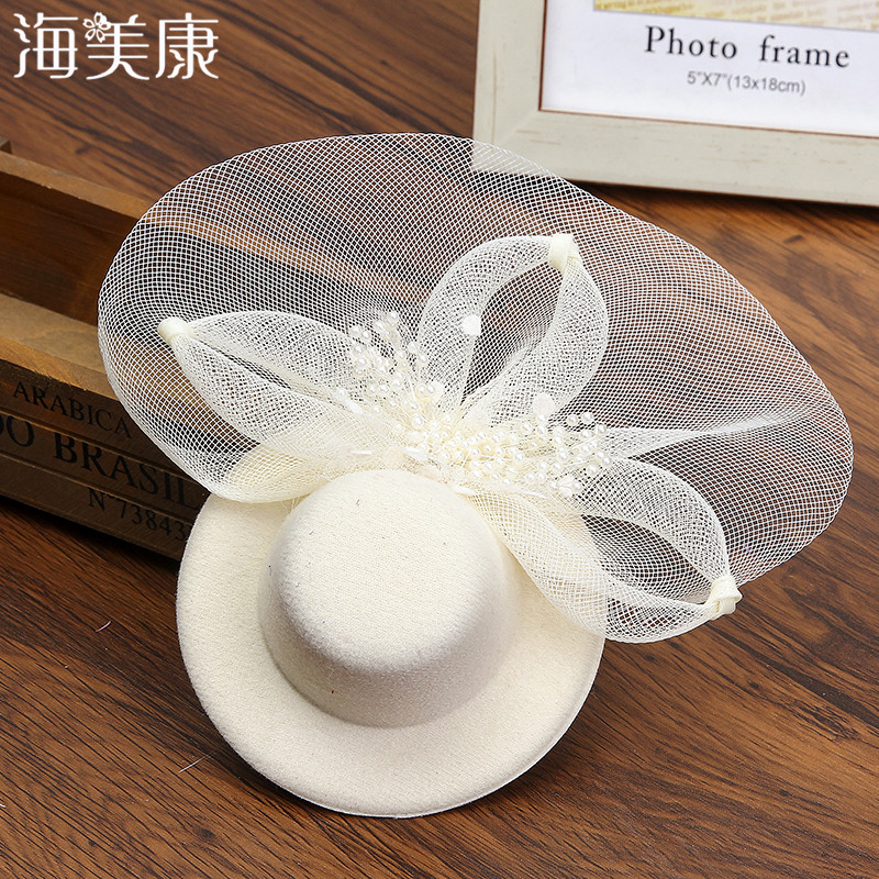 Cute Hat Hairpins Women Girls Party Prom Shiny Hair Clip Lady's  Hat Feathered Flower Hair Accessories Elegant Hair Barrettes