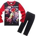 2016 Novos dos desenhos animados Zootopia Pijamas infantis meninos meninas Impresso manga comprida de algodão sleepwear conjunto Conjuntos de Roupas de Bebê Desgaste Do Sono