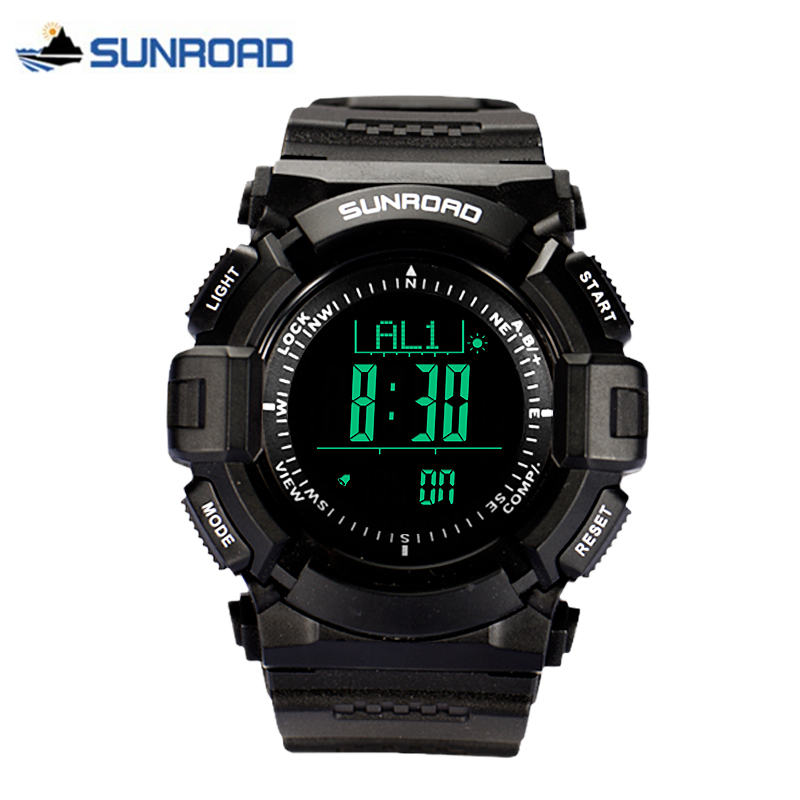 SUNROAD Luxury Brand Sport Watch Waterproof Digital Altimeter Barometer Compass Thermometer Weather Pedometer Clock Reloj Hombre north edge men sports watch altimeter barometer compass thermometer weather forecast watches digital running climbing wristwatch