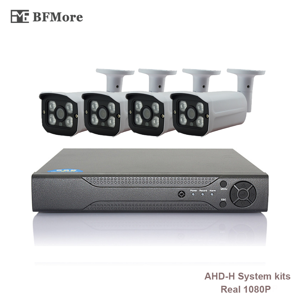 BFMore 4CH AHD 1080P H CCTV System 2 0MP HDMI AHD CCTV DVR IR Outdoor Security