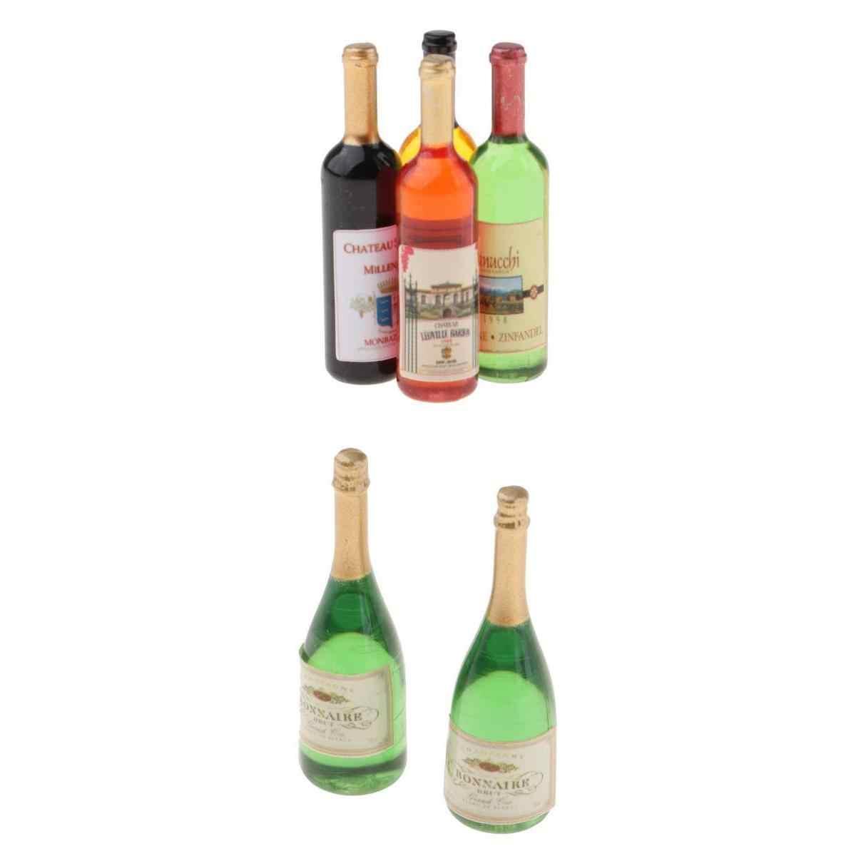 3Pcs 1//12 Dollhouse Miniature Wine Bottles Cups Kitchen Play Toy Accessor USTEUS