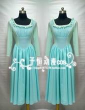 Cinderella dress película original cenicienta adulto cosplay traje de la criada (hecho a mano)