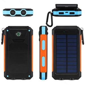 Image 4 - LiitoKala Lii D007 Draagbare Zonne energie Bank 20000 mah Voor Xiaomi 2 Iphone Externe Batterij Powerbank Waterdichte Dual USB
