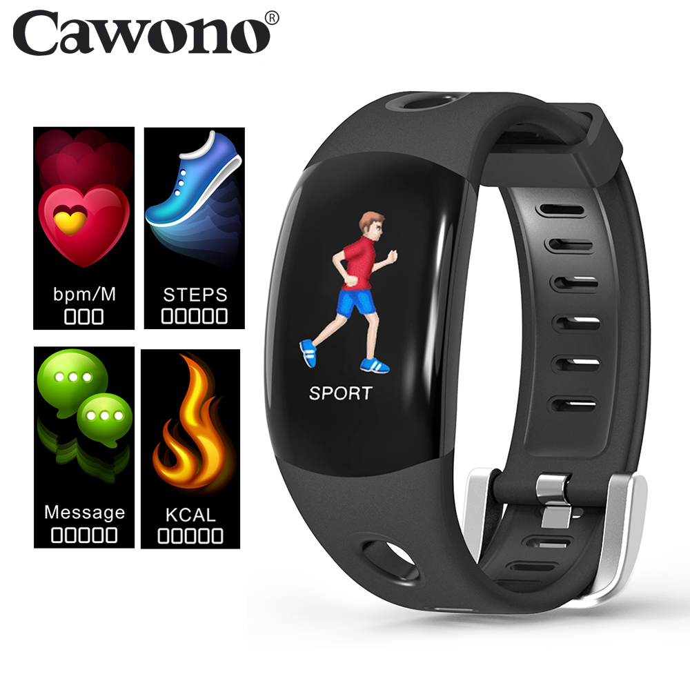 цена на Cawono CW11 Smart Bluetooth Wristband Heart Rate Monitor Fitness Activity Tracker Pedometer Bracelet Smart Band for IOS Android