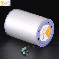 CSJA 1000M Elastic Line Transparent Crystal Cord 1 Roll Stretch Thread Handmade Strong String for DIY Beaded Jewelry Making F375