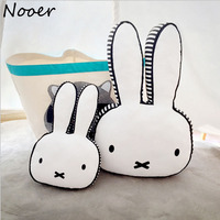 2017 New Ins Hot Rabbit Cotton Pillow Children Sleep Appease Calm Rabbit Pillow Room Bed Cushions