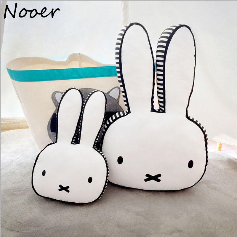 Nooer Hot Rabbit Cotton Pillow For Baby Kids Children Sleep Rabbit Toy Room Bed Decor Girlfriend Birthday Gift Free Shipping nooer plush bull terrier dog kids baby toy super soft sleeping pillow for children birthday christmas gift free shipping
