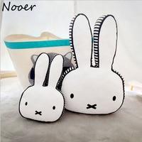 2017 New Ins Hot Rabbit Cotton Pillow Children Sleep Appease Calm Rabbit Pillow Room Bed Cushions