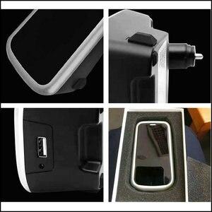 Image 3 - Araba kablosuz şarj cihazı volvo XC90 YENI XC60 S90 V90 C60 V60 2018 2019 Özel cep telefonu şarj plakası araba aksesuarları