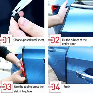 Image 5 - Car Door Edge Scratch Protector Strip Rubber 5M/10M Guard Trim Automobile Door Stickers Sealing Strip Sticker Car styling