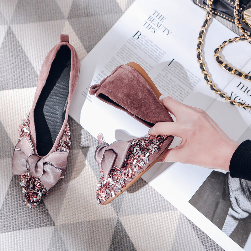 Kmeioo 2019 Spring Autumn Comfortable Shoes Woman Pointed Toe Flats Slip-On Loafers Butterfly-knot Mules Women Dress ShoesKmeioo 2019 Spring Autumn Comfortable Shoes Woman Pointed Toe Flats Slip-On Loafers Butterfly-knot Mules Women Dress Shoes