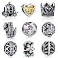 19 Estilos Authentic 925 Sterling Silver Coração, Arco Nó, Árvore Encantos Bijoux Beads Fit Pandora Charm Bracelet Original jóias