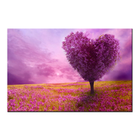 Scenery Paintings Canvas Purple Loving Heart Trees Modern Wall Prints Artworks For Home Decoration Pictures Frame Not Include