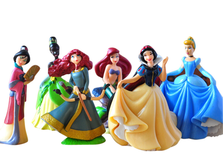 Disney Toys for Kids Xmas Birthay Gift 6 Pcs/Set Cute Cartoon Princess Action Figures Mermaid Cinderella Snow White Dolls Models 11pcs set disney princess toys cinderella belle mermaid ariel sofia snow white fairy rapunzel action figures disney doll gift
