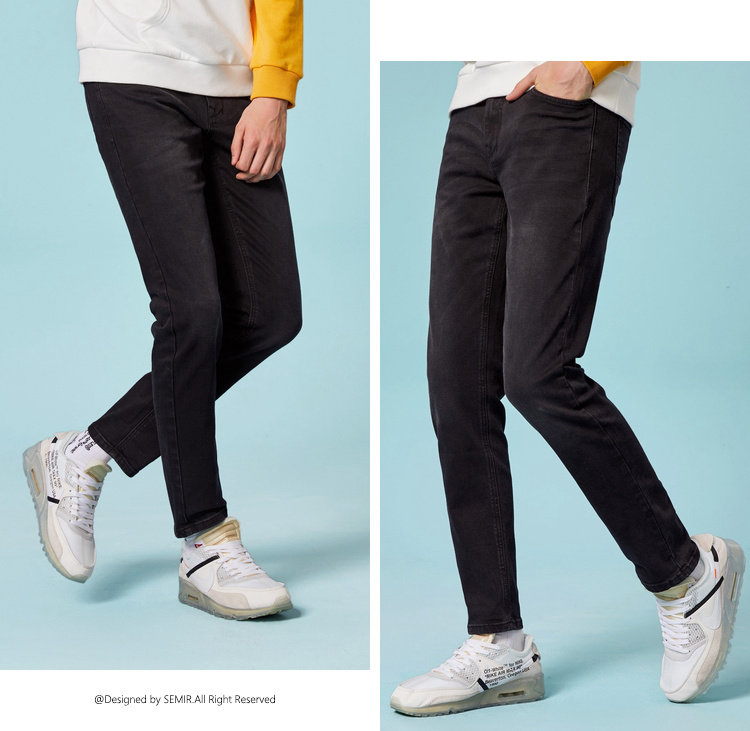HTB1GZ6NafvsK1RjSspdq6AZepXah - SEMIR jeans for mens slim fit pants classic jeans male denim jeans