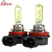1 пара 12 В 55 Вт H11 автомобилей противотуманные лампа Галогенная Авто фара для Chevrolet/ ford/Toyota/Nissan