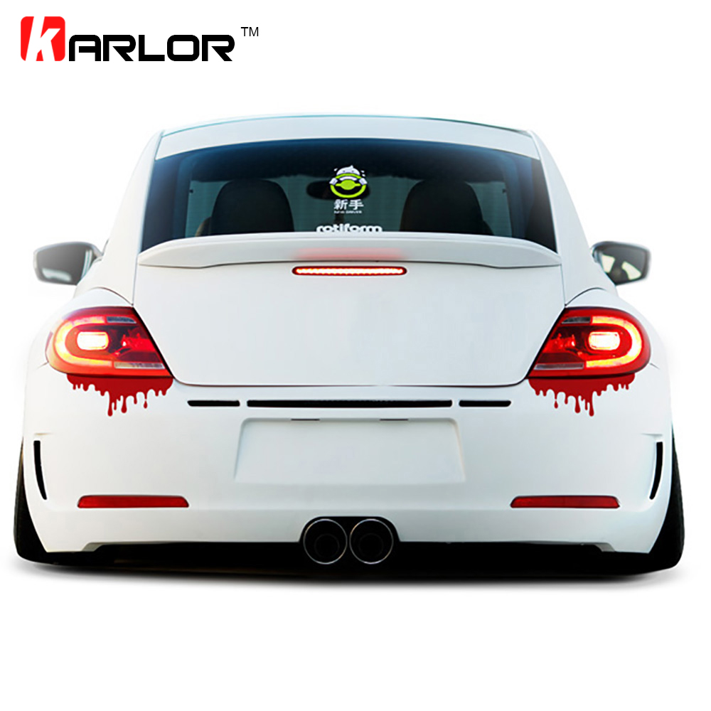 2 pcs 25cm.length reflecktive auto car sticker decal vinyl Blood hellaflush sport racing drift motorsport street racing