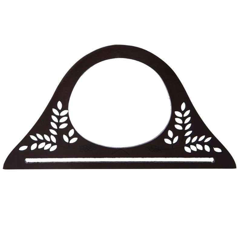 Wood Handle Purse Frame Wooden Bag Handle DIY Shoulder Crossbody Messenger Handbag Accessories