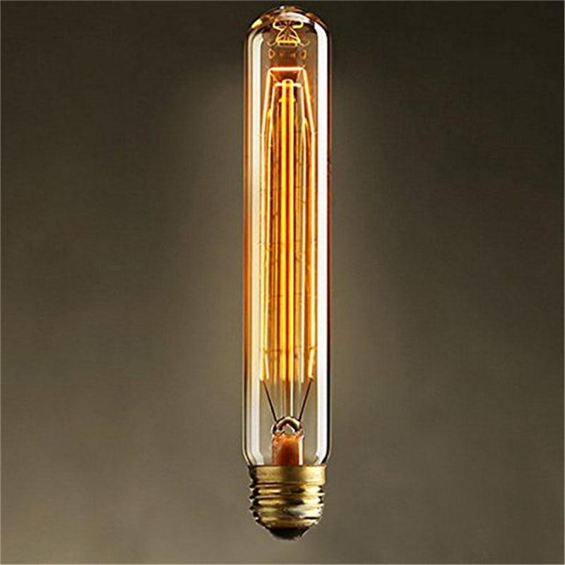 E27 40w Vintage Retro Filament Edison Tungsten Light Bulb: Vintage Edison Bulb Light E27 T185 40W Antique Tungsten