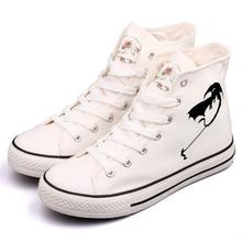 Designer Dinosaur Print Canvas Shoes High Top Tenis Walking Graffiti Dragons Footwear