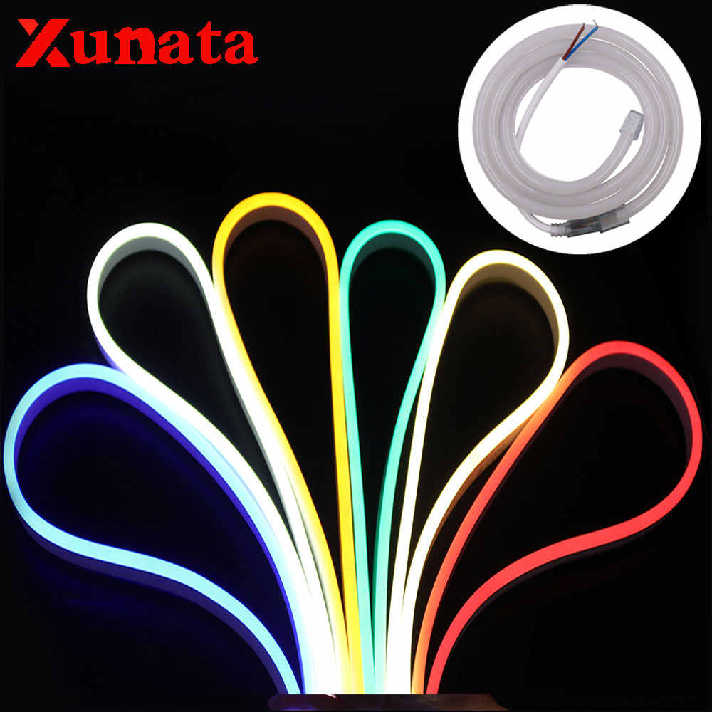 12V Neon Light 0.5m Cut 2835 Flexible Waterproof Neon Sign RGB Led Light Sign Whtie Warm White Ribbon Tape For Home Decoration