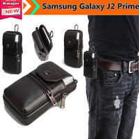 Genuine Leather Carry Belt Clip Pouch Waist Purse Case Cover For Samsung Galaxy J2 Prime 5inch