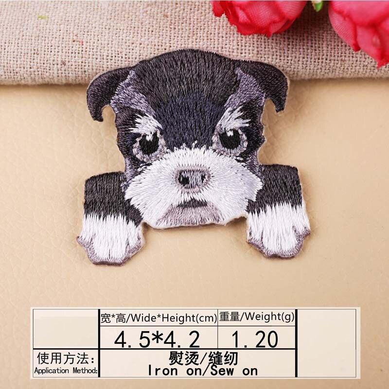 1 шт., нашивка для вышивания собаки, термопередача, гладить на вышивать на пачках для одежды DIY, футболка, тканевая наклейка, декоративные аппликации 47267 - Цвет: E