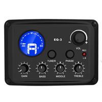 SUERTE New Arrival 3Band EQ With LCD Tuner Chromatic Tuner Three EQ Ranges Bass Middle Treble