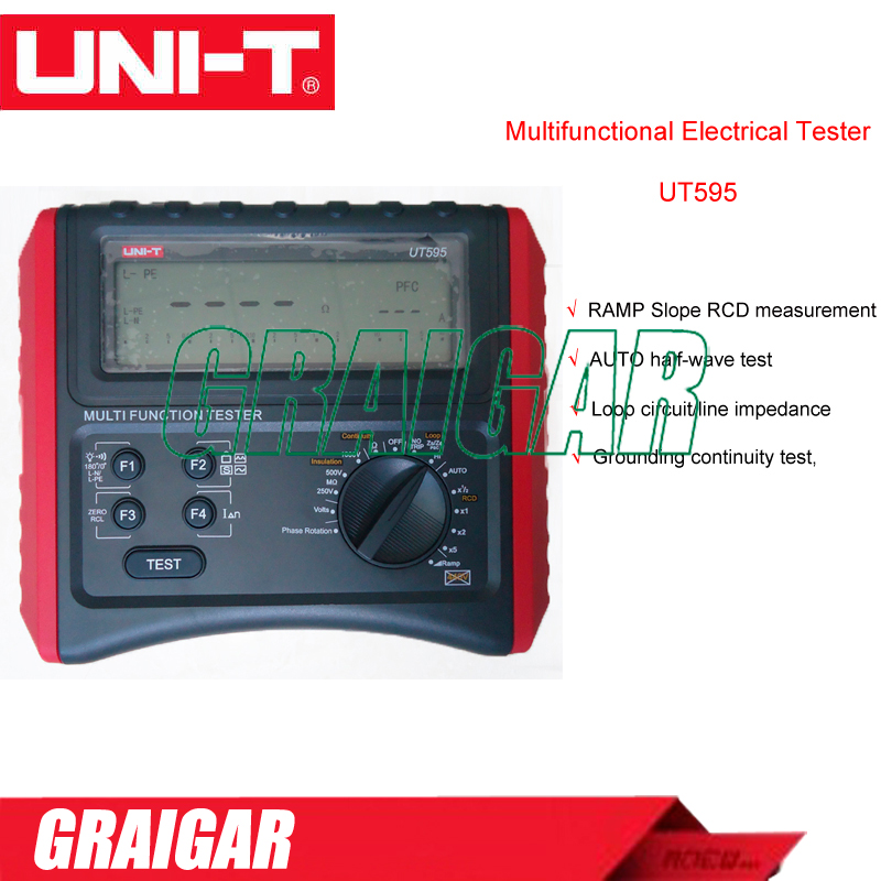 Uni T UT595 Multifunction Loop Tester Earth Ground Line Loop Impedance Tester Insulation Resistance Meter