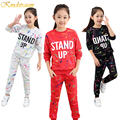 Kindstraum 2016 New Print Girls Clothing Sets Children Long Sleeve Sports Suits Autumn & Spring Kids Twinsets Tee + Pants,MC204