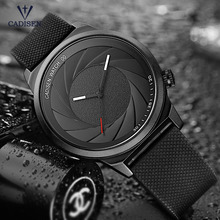 Cadisen Men's Simple Analogue Quartz Watches Fashion Casual Wristwatch with Silicone Band for Man Boys Black CL9056G-1