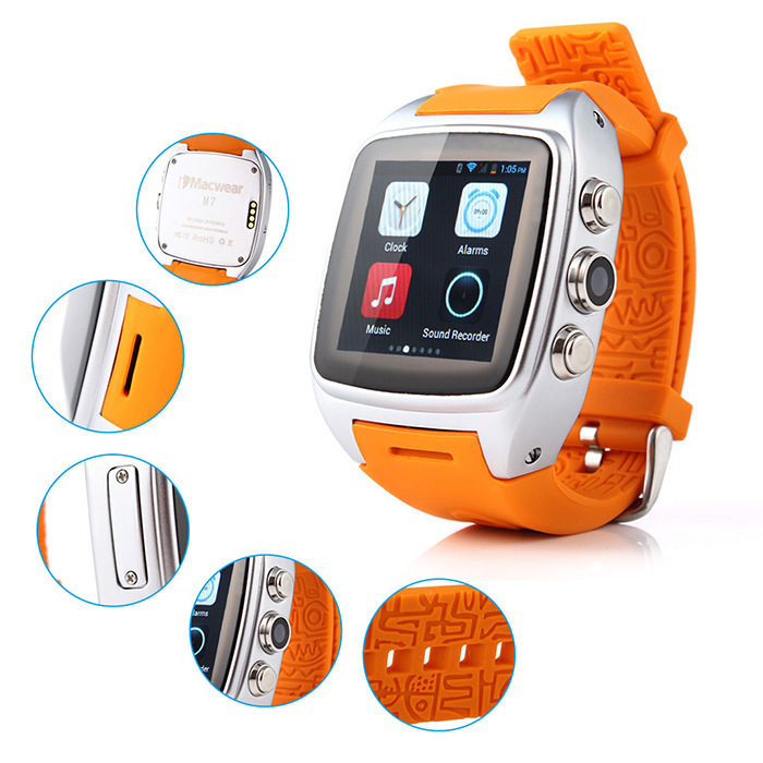 ФОТО X01 Android 4.2 2G/3G Smart Bluetooth Watch Phone 1.3GHZ MTK6572 Dual Core 4GB ROM 5MP Camera Pedometer Heart Rate