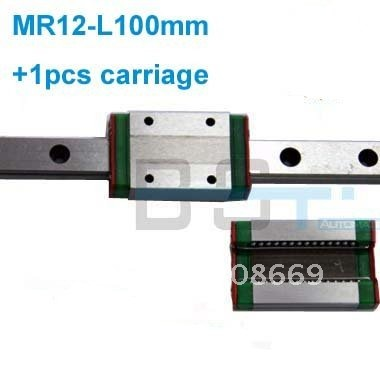 linear guide MR12 -L100mm with 1pcs blocks carriage   MGN12C typelinear guide MR12 -L100mm with 1pcs blocks carriage   MGN12C type