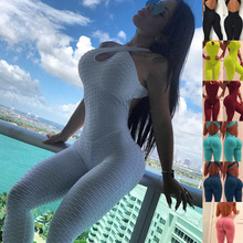 Hot selling New Women Sports Full Length Jumpsuits Clothes 2019 Sexy Bodysuit