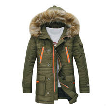 Free Shipping The New Winter 2015 Men's Fashion Leisure Men More Upscale Warm Winter Long Cotton-Padded Jacket Jacket