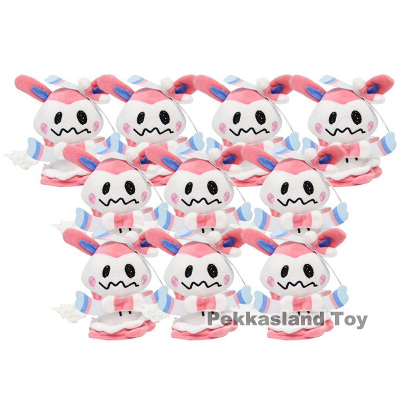 "10pcs Flareon Sylveon Eevee Umbreon 5/"" Cosplay Mimikyu Poke Plush Doll Toy"
