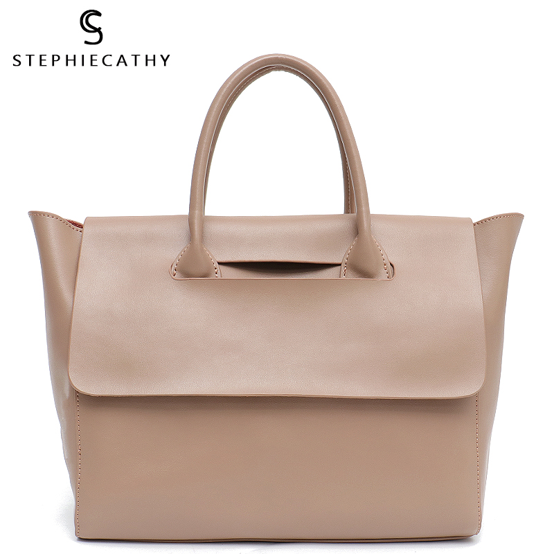 SC Fashion Brand Leather Lady Totes Women Trapeze Bags Shoulder&Crossbody Bag Female Large Flap Genuine Leather Handbag&Baby Bag